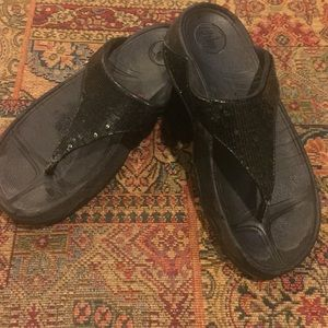Fitflop Electra Size 6 Black Good condition